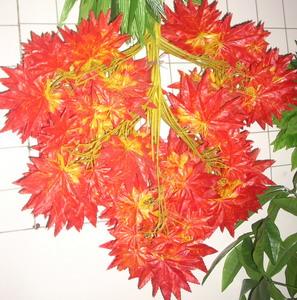 仿真红枫叶枝,仿真枫树叶,红枫叶树枝