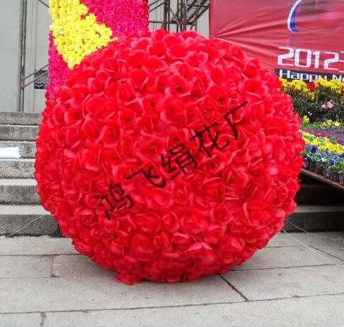 仿真玫瑰花朵,仿真花球