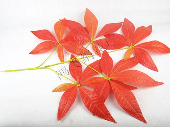 仿真发财树叶枝,仿真叶子,装饰树枝,仿真发财树,仿真植物,绢花