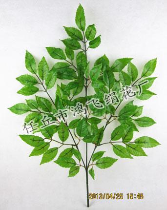 仿真塑胶手感幸福叶树枝,仿真叶子,装饰树枝,园林造景