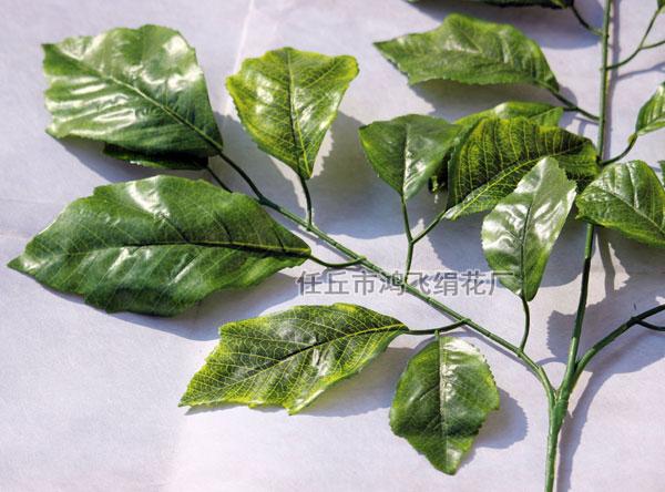 仿真大叶子枝,仿真大青叶枝,仿真桑树枝   产品名称:仿真柞树叶,人造